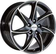 Alumiinivanne RONAL R51 Black / Polished | 7.0x16 | 5x108 | ET45 | KR76,0