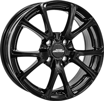 Alumiinivanne INTER ACTION 2 Pulsar Gloss Black | 6.5x16 | 5x100 | ET38 | KR57,1