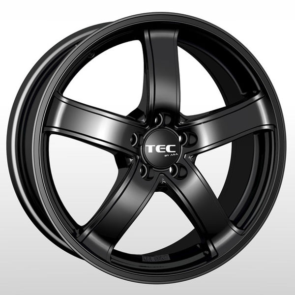 Alumiinivanne TEC Speedwheels AS1 Schwarz seidenmatt CB: 65.1 | 6x15 | 4x108 | ET25 | KR65,1 mm