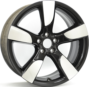 Alumiinivanne ORIGINAL EQUIPMENT  Gloss Black / Polished | 8.5x19 | 5x112 | ET43 | KR66,4